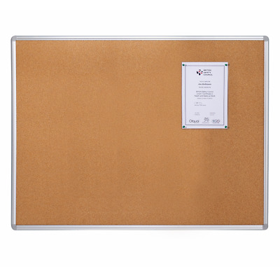 Aluminium Framed Cork Notice Board - 1.2 x 0.9m - D2031209X-AF