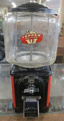 Vintage Topper Deluxe 1 cent Peanut/gumball Machine Parkway Machine Corp Balt Md