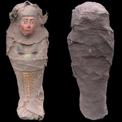 EGYPTIAN HIEROGLYPHIC SHABTI, LATE PERIOD 664 - 332 BC (9) LARGE 14.5 Cm