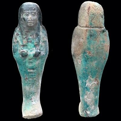 EGYPTIAN HIEROGLYPHIC SHABTI, LATE PERIOD 664 - 332 BC (10) LARGE 16.5 Cm
