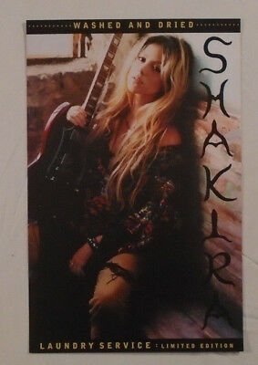 Shakira 2002 Promo Poster Two-Sided Laundry Service Washed And Dried