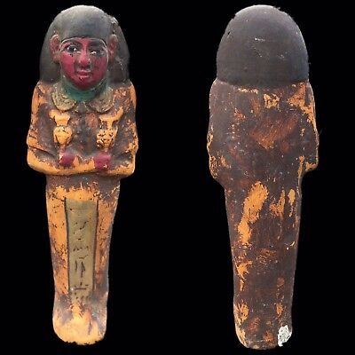 EGYPTIAN HIEROGLYPHIC SHABTI, LATE PERIOD 664 - 332 BC (11) LARGE 21 Cm
