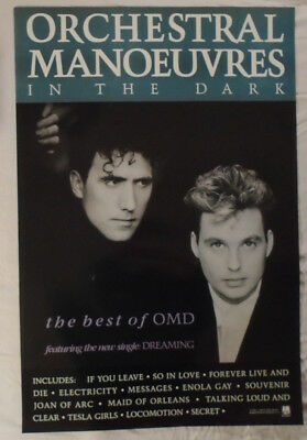 OMD 1988 Promo Poster Best Of Orchestral Manoeuvres In The Dark