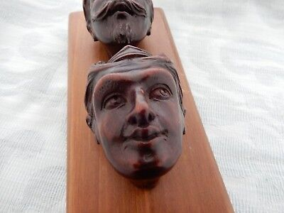 V.Unusual 19th century hand carved Pipe bowls, carvers sales/display piece, rare
