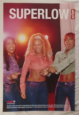 Destiny's Child 2001 Promo Poster Levi's Beyonce