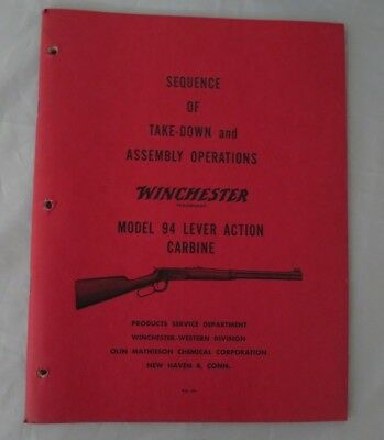 Winchester Model 94 Lever Action Sequence of Take-Down and Assembly Operations