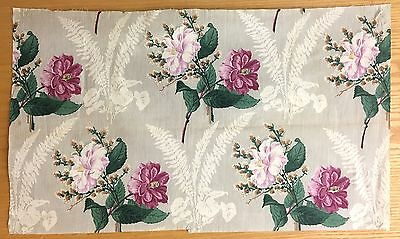 Absolutely Beautiful 19th Century French Cotton Floral Fabric  (2084)