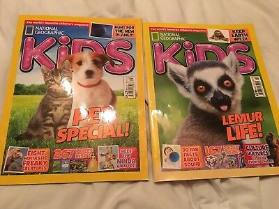 NATIONAL GEOGRAPHIC KIDS MAGAZINES X 2 ISSUES 136-137 April/May 2017