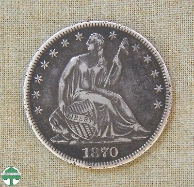 1870 Seated Liberty Half Dollar - Very Fine Details