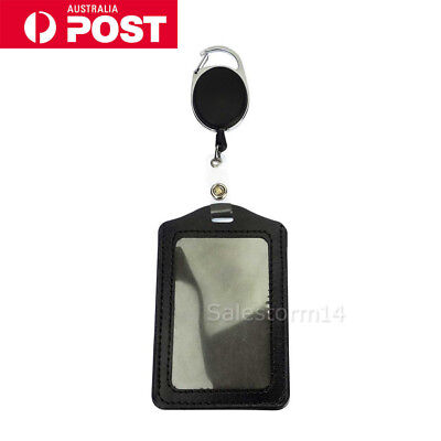 NEW Retractable Lanyard ID Badge Opal Card Holder Business Security Pass OZ