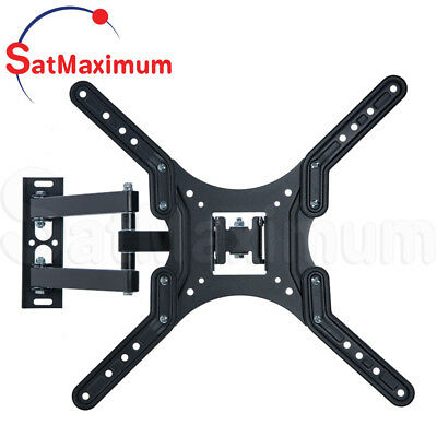 """FULL MOTION TV Wall Mount 23 - 55"""" inch Swivel One Arm TV Bracket Up To 66Lb LCD"""