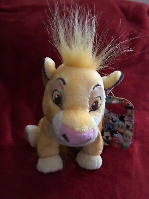 Disney The lion King Plush Soft Toy Simba With Tags 18cm