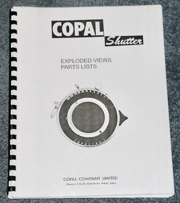 Copal Shutter Exploded Views and Part List In English & Japanese 1970's
