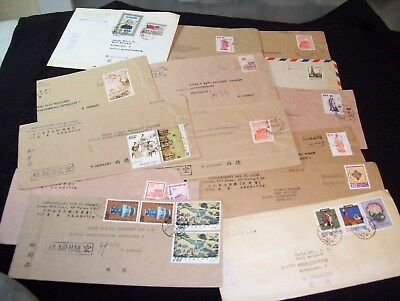 Taiwan, 28 covers used to Germany, inter. franking, from 1971-78