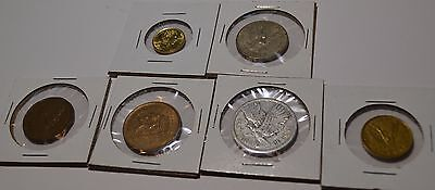 Chile 6 Coin Lot All Different Coins Pesos Mix 1 - 100 Pesos  - Chl2