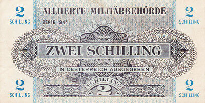 2 Schilling Very Fine Banknote From Allied Military Austria 1944!pick-104