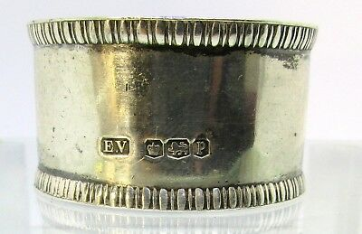 Thick 1932 Solid  Silver Napkin Ring SHEFFIELD