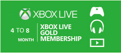Xbox Live Gold 7-10 Months / Profile ( No Code / No Cd / Read Desc )