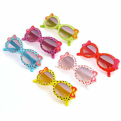 Fashion Baby Kids Children Sun Glasses Plastic Sunglasses Girls Bow Eyewear VD