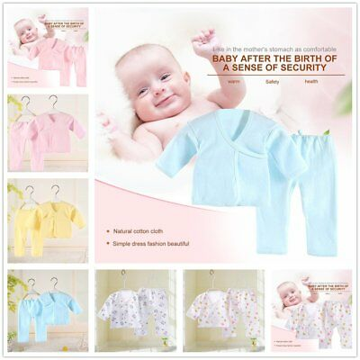 Newborn Infant Baby Boy Girl Kids Clothing Soft Pure Cotton Underwear Suit SetVD