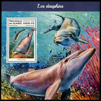 HERRICKSTAMP NEW ISSUES GUINEA Dolphins S/S at Face Value