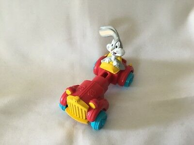 1992 Warner Bros. Lonney Tunes Bugs Bunny Extending Car Toy Collectible