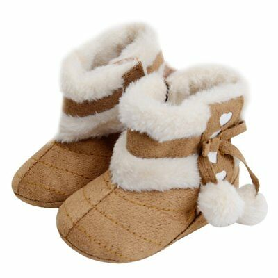 Winter Warm Newborn Baby Infant Shoes with Cute Pompon Baby Toddler Shoes VD