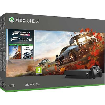 Microsoft Xbox One X 1TB, Forza Horizon 4 Bundle, Black - Brand New
