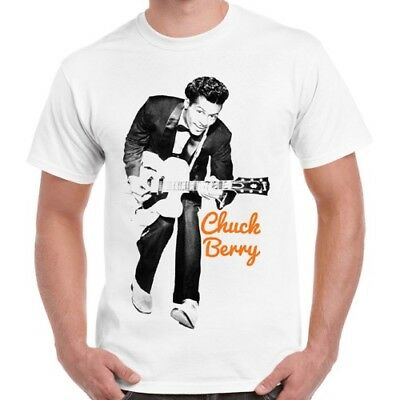 Chuck Berry Guitar Legend Rock N' Roll Retro T Shirt 1156