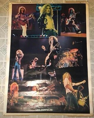 "Vintage Original 1978 LED Zeppelin 58"" x 42"" Wall/ Door Poster"