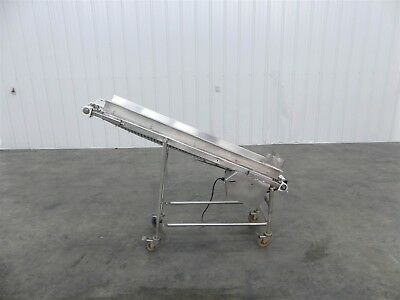"Cleated Incline Conveyor 6"" x 46"""