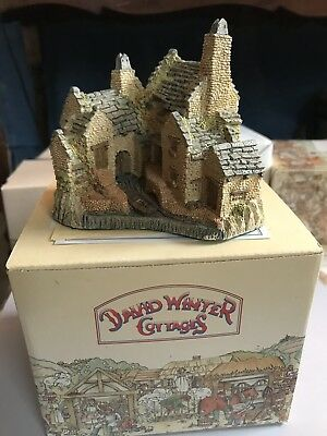 "Charming 1983 DAVID WINTER Cottages ""The Fisherman's Wharf' w/ Box No Reserve"