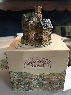 "Charming 1983 DAVID WINTER Cottages ""The Bakehouse' w/ Box No Reserve"