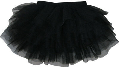 Girls Skirt Black Classic Tulle Multi-layers Dancing TUTU Kids Clothes Size 4-10