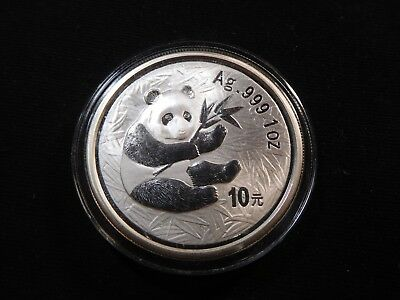 D24 China PRC 2000 Silver Panda 1 Oz. Frosted Ring in Capsule