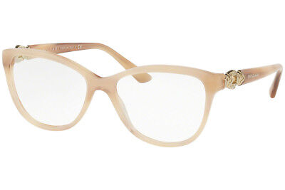 f7cf399a60  277 New Bvlgari BV4132-B 5413 RX Prescription Eyeglass Frames 53mm Beige  Italy