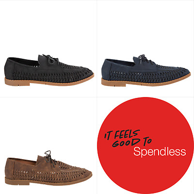 NEW Spendless Mens Hurricane Olympus Breathable Casual Woven Finish Loafer Shoes