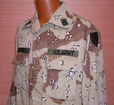 Vintage Desert Storm Era US Military Issue Desert Chip Camo Coat Jacket Size MR