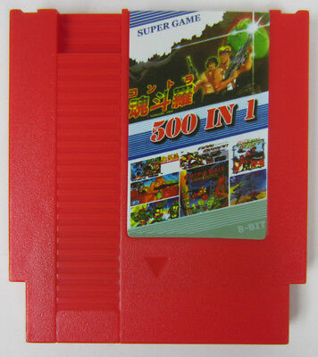 NEW Super Game 500-in-1 (8-Bit NES Nintendo) Red Video Game Cartridge