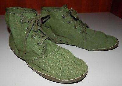 Vintage Military High Top Canvas Athletic Gym Shoe US Rubber Company OD Shoes
