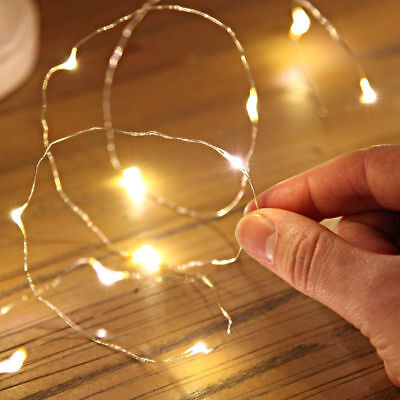 2M 20 LED Copper Wire String Fairy Light Battery Powered Warm For Xmas DIY SS325