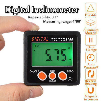 Digital LCD Protractor Angle Finder Bevel Level Box Inclinometer Meter Magnetic#