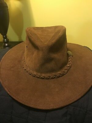 399acb188ae NEW USA MADE Henschel Hats OUTBACK Rustic CRUSHABLE Leather Western Cowboy  Hat