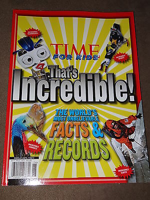 Time For Kids That's Incredible! World's Most Unbelievable Facts & Records-New