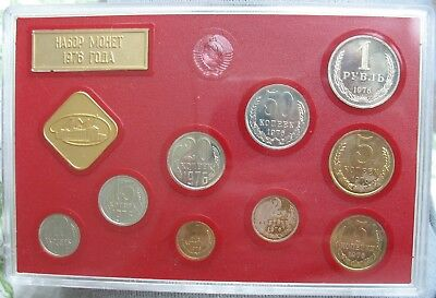 1976 Set Of Coins Of The USSR Leningrad Mint (No Box) Spots