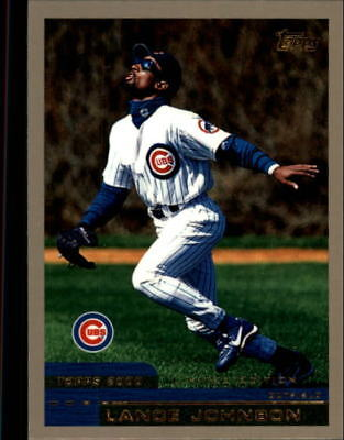 2000 Topps Limited Chicago Cubs Baseball Card #157 Lance Johnson/4000