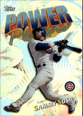 2000 Topps Limited Power Players Chicago Cubs Baseball Card #P16 Sammy Sosa/4000