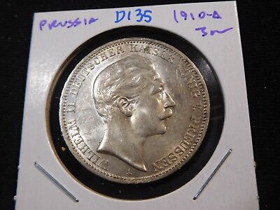 D135 German State Prussia 1910-A 3 Marks