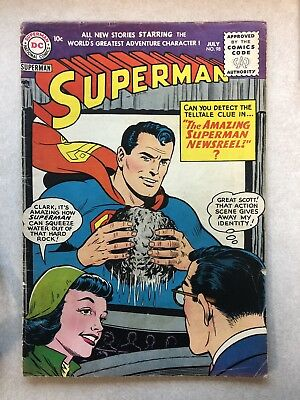 SUPERMAN # 98 ~ 1950s GOLDEN AGE COMIC BOOK! AOLID CONDITION!