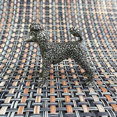 Chinese Collectible Handwork Rare Tibet Silver Pet Poodle Dog Old Antique Statue